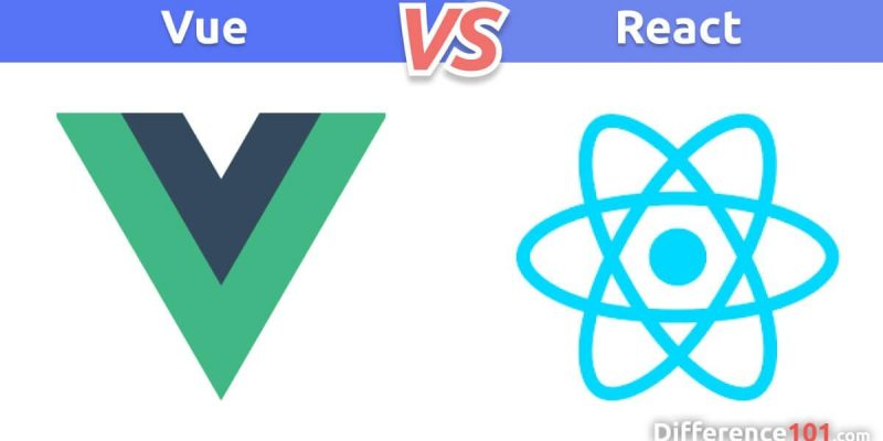 What is the difference between Vue and React?