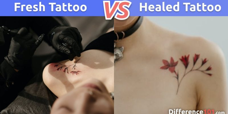 What is the difference between Fresh Tattoo vs. Healed Tattoo?